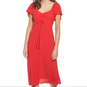 Leith Nordstrom Red Cinch Dress